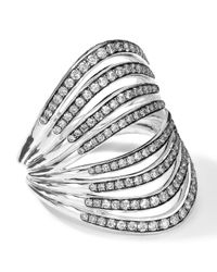 Ippolita | Metallic Sterling Silver Multi-band Ring With Diamonds (0.82ctw) | Lyst