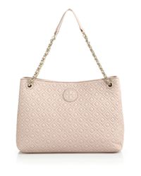 Tory Burch | Pink Marion Quilted Chain Shoulder Bag | Lyst