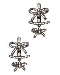Fallon | Metallic Forget Me Knot Earrings | Lyst