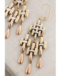 Anthropologie - Metallic Carillon Earrings - Lyst