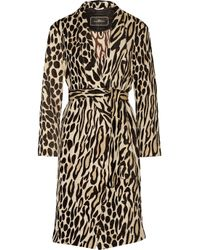 By Malene Birger - Brown Apponia Leopard-jacquard Coat - Lyst