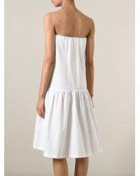 Erika Cavallini Semi Couture - White Strapless Dress - Lyst