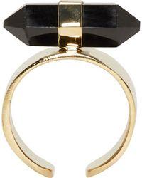 Isabel Marant | Black Crystal And Gold Santa Ring | Lyst