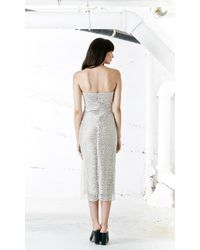 Again - Winston Strapless Dress In White - Lyst