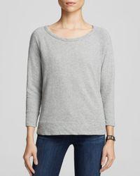 James Perse - Gray Sweatshirt - Vintage Raglan - Lyst