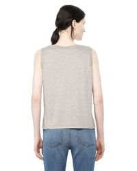 Alexander Wang | Gray Classic Low Neck Flared Tank | Lyst