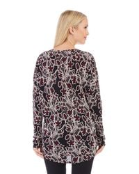 Lord & Taylor | Red Floral Top | Lyst