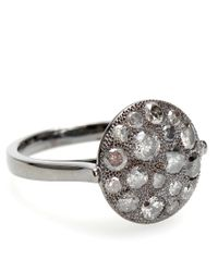 Roberto Marroni | Metallic Mora 18kt Oxidized White Gold And Grey Diamond Ring | Lyst