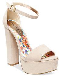 Madden Girl | Brown Wallflwr Two-piece Platform Sandals | Lyst