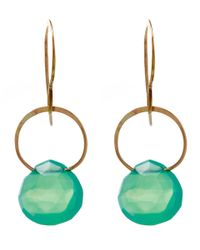 Melissa Joy Manning | Green Large Gold And Chrysoprase Single Drop Earrings | Lyst