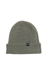Golden Goose Deluxe Brand - Green Zip Pocket On Wool Knit Beanie Hat for Men - Lyst