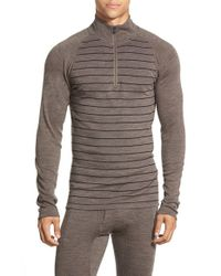 Smartwool | Brown 'nts Mid 250' Long Sleeve Half Zip Pullover for Men | Lyst