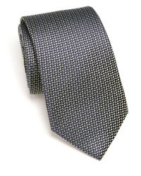 Eton of Sweden | Green Chevron Dash Silk Tie for Men | Lyst