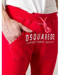 DSquared² - Red Track Pants for Men - Lyst