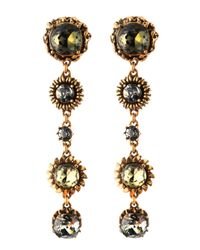 Oscar de la Renta | Metallic Fivedrop Linear Clip /on Earrings | Lyst