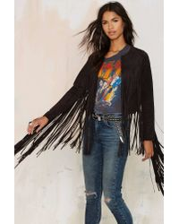 Nasty Gal | Black Shake Down Fringe Jacket | Lyst
