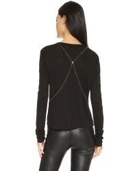 Chan Luu Metallic Crystal Body Chain
