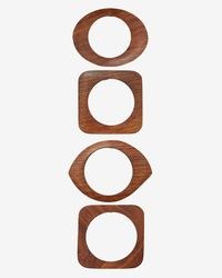 Kenneth Jay Lane - Brown Set Of 4 Wooden Bangles - Lyst