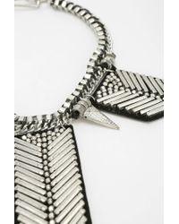 Urban Outfitters - Metallic Arrowonleather Bib Necklace - Lyst