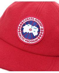 Canada Goose - Red Merino Wool Cap for Men - Lyst