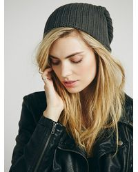 Free People - Gray Womens Capsule Slouchy Beanie - Lyst