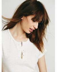 Free People - Metallic Wire Hoops - Lyst