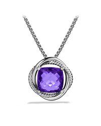 David Yurman - Metallic Infinity Medium Pendant Necklace With Amethyst - Lyst