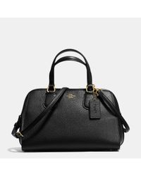COACH - Metallic Nolita Satchel In Pebble Leather - Lyst