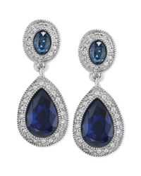 Carolee | Blue The Bethany Crystal Drop Earrings | Lyst