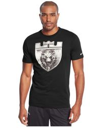 Nike | Black Lebron Foundation Crest T-shirt for Men | Lyst