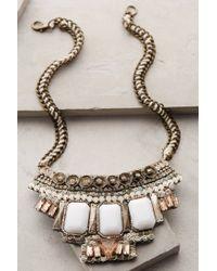 Anthropologie - Metallic Tantalize Bib Necklace - Lyst