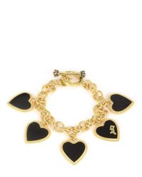 Juicy Couture | Metallic Enamel Hearts Statement Bracelet | Lyst