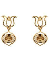 Melissa Odabash | Metallic Lotus Earrings | Lyst
