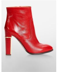 Calvin Klein | Red White Label Karlia High Heel Bootie | Lyst