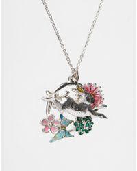Bill Skinner   Metallic Flower Leaping Rabbit Necklace   Lyst