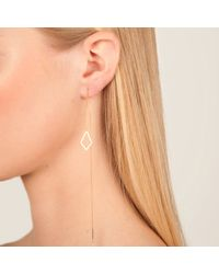 Dutch Basics - Metallic The Ruit Drop Earring Rose Gold - Lyst