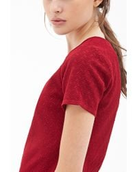 Forever 21 - Textured Knit Boxy Top - Lyst