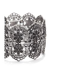Forever 21 | Metallic Filigree Flower Bracelet | Lyst