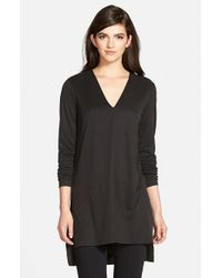 Trouvé | Black Textured Knit Tunic | Lyst