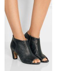 Maison Margiela - Black Textured-leather Ankle Boots - Lyst