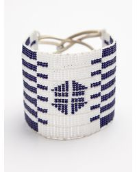 Free People | Blue Warrior Bead Cuff | Lyst