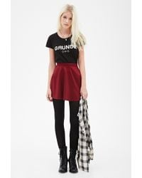 Forever 21 - Black Grunge Chic Graphic Tee - Lyst