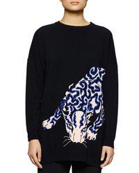 Stella McCartney - Black Leopard Motif Sweater - Lyst