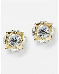 Kate Spade | Metallic 12 Kt Gold Plated Glass Stud Earrings | Lyst