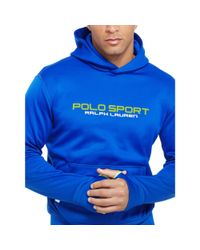 Ralph Lauren | Blue Tech Fleece Hoodie for Men | Lyst