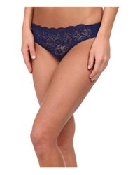Commando | Blue Double Take Lace Thong Lt14 | Lyst
