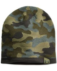 Under Armour | Green 2-way Camo Beanie for Men | Lyst