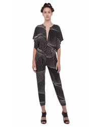 Norma Kamali | Brown Rectangle Jog Jumpsuit | Lyst