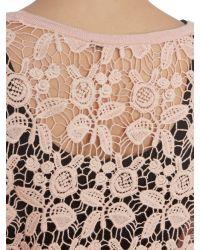 Izabel London | Pink Floral Crochet Lace Bolero | Lyst