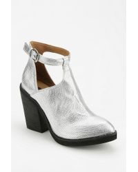 Urban Outfitters | Metallic Deena Ozzy Cutout Tstrap Ankle Boot | Lyst